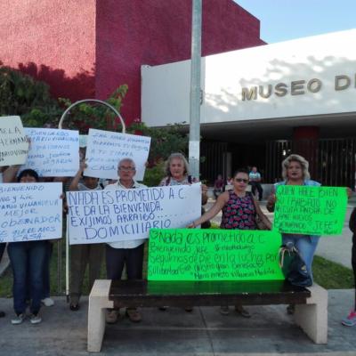Marchan en apoyo a Mario Villanueva en Chetumal