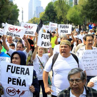 PROTESTAN POR GASOLINAZOS: Crece malestar contra Peña Nieto por incremento del precio de combustibles