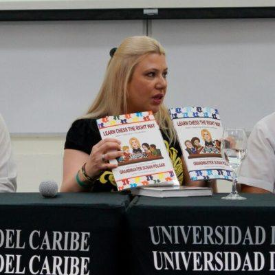 SUSAN POLGAR EN CANCÚN: La Gran Maestra del ajedrez llama a impulsar el deporte entre la niñez y juventud de Quintana Roo