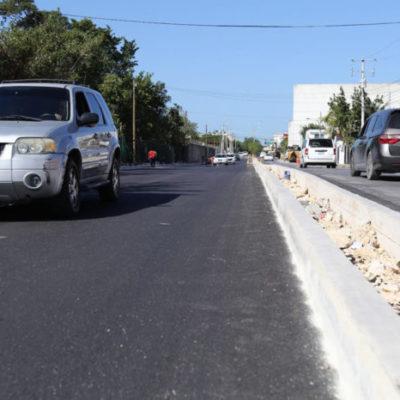 Se remodelaron más de 62 mil m2 de vialidades de Cancún durante el primer tramo de gobierno, asegura Alcalde