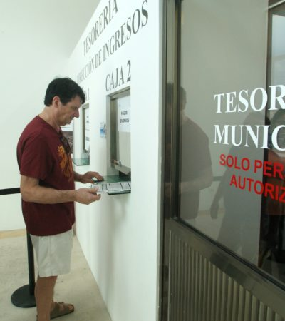 Mantendrán en febrero 10% de descuento en el pago del predial en Puerto Morelos