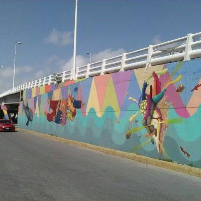Reactivan programa 'Corazón de pescador' para pintar murales urbanos