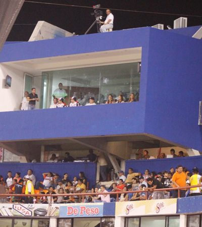 LA HERENCIA GROSERA DE BORGE EN EL BETO ÁVILA:  El lujoso palco del ex Gobernador en el parque de béisbol, en el abandono
