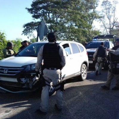 RESCATE A SANGRE Y FUEGO: Tras persecución y balacera, liberan a secuestrado en Tabasco