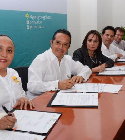 Firma Solidaridad convenio con la STyPS para ofrecer becas a quienes se capacitan para el trabajo