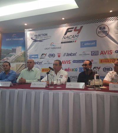 REGRESA LA FÓRMULA 4 A CANCÚN: Tras 25 años de ausencia, realizarán el Gran Premio Riviera Maya del 3 al 5 de febrero