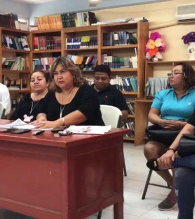 Realizan maestros de 14 secundarias paro parcial de labores para reclamar faltantes en diversos pagos