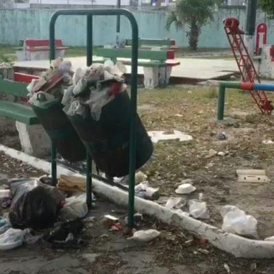 Zonas de Cancún lucen con basura, lo que genera mala imagen urbana y contaminación