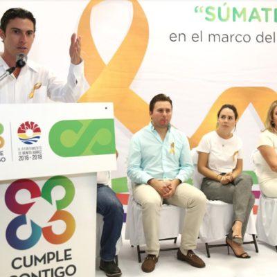 """""""NADIE ESTÁ EXENTO A UNA ENFERMEDAD DE ESTE TIPO"""": Respalda comuna de BJ iniciativas para combatir el cáncer infantil"""