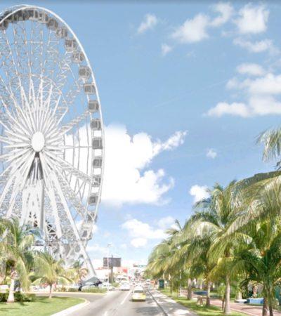 """""""COMO PROYECTO ESTÁ MUY PADRE, PERO…"""": Aún no funciona, pero la 'Gran Rueda' pone de cabeza la movilidad en Punta Cancún"""