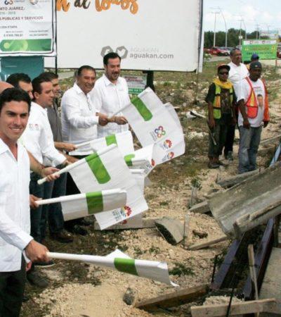 Inician trabajos de equipamiento de la ciclovía de la Avenida Huayacán en Cancún; invierten 4.9 mdp