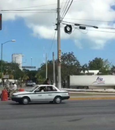 Ciudad estrangulada por cierre de calles en los alrededores de la Fiscalía en Cancún (video)