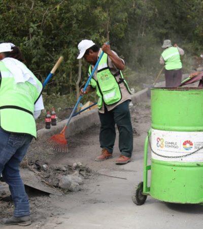 Limpian y dan mantenimiento a 5.5 millones de metros cuadrados de áreas públicas en Cancún