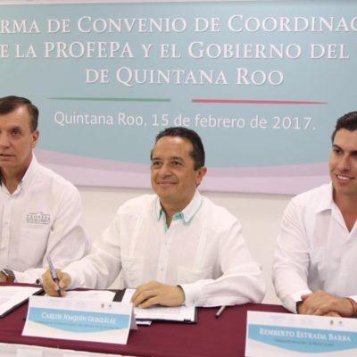 Firman Profepa y Gobierno acuerdo para atender temas ambientales en Quintana Roo