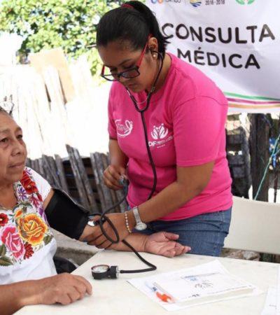 Atienden a más de 8 mil 500 personas en jornadas de salud en Cancún