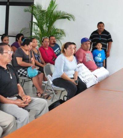 Piden habitantes de la colonia Antorchista regularización y urbanización de terrenos en Tulum