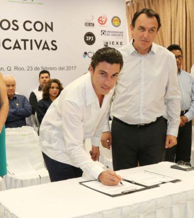 Firma Remberto Estrada convenio con instituciones educativas para mejorar preparación académica de trabajadores de la comuna