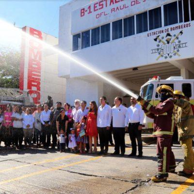 Anuncian aumento salarial para los 157 elementos del Cuerpo de Bomberos de Cancún