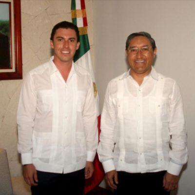 Se reúnen en Cancún Alcalde Remberto Estrada con titular de Finanzas y Planeación, Juan Vergara