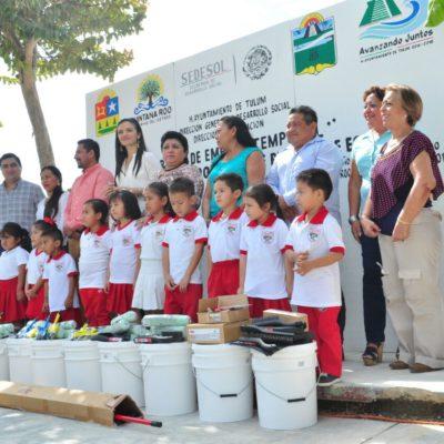 Extienden programa de empleo temporal en Tulum para pintar escuelas