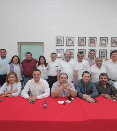 """¿DA 'RAY' PATADAS DE AHOGADO?: En busca de apoyo ante las críticas, se reúne líder del PRI con dirigencia en Cancún; llama a """"cerrar filas"""""""