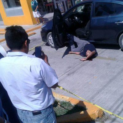 JORNADA VIOLENTA EN QR | DOBLE EJECUCIÓN EN PLAYA: Tirotean a dos personas en un Oxxo de la Avenida 115; uno murió en el lugar y otro en el hospital
