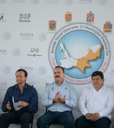 Inicia en Chetumal programa itinerante para atender a los 23 municipios de la Frontera Sur