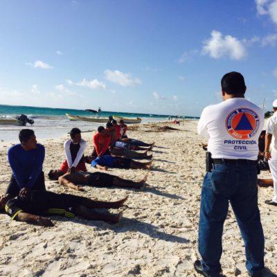 Imparten curso de salvamento a prestadores de servicios náuticos en Tulum