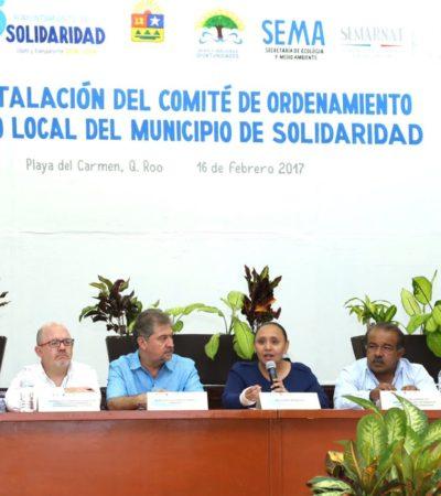 Reinstalan Comité de Ordenamiento Ecológico Local de Solidaridad