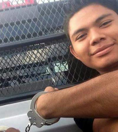 """""""YO ME PREGUNTO ¿CUÁL ES MI FALTA?"""": Detienen y esposan a destacado deportista cancunense sólo por ir en la calle con su balón"""