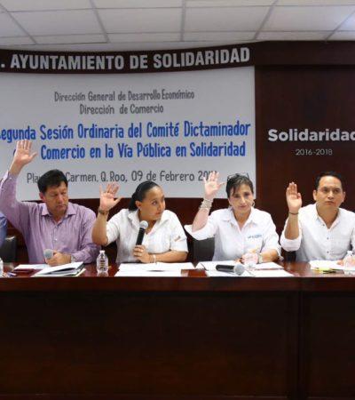 Acusa Alcaldesa que se entregaron más de mil permisos irregulares para el comercio informal en Solidaridad durante el anterior gobierno