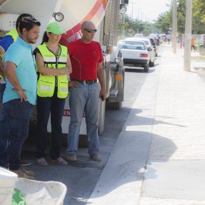Por concluir, la primera etapa de modernización en la Avenida Zetina Gasca de Puerto Morelos