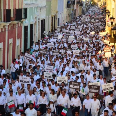MOVILIZACIÓN CONTRA TRUMP EN CAMPECHE: Encabeza Gobernador 'marcha de la unidad' para repudiar acciones en contra de México