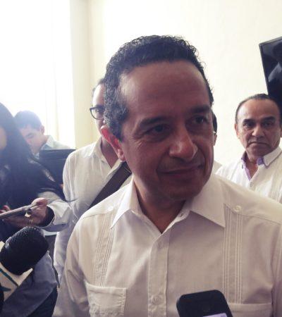 LA DELINCUENCIA NO HA REBASADO AL GOBIERNO: Admite Carlos Joaquín se deben redoblar esfuerzos contra la delincuencia organizada en QR