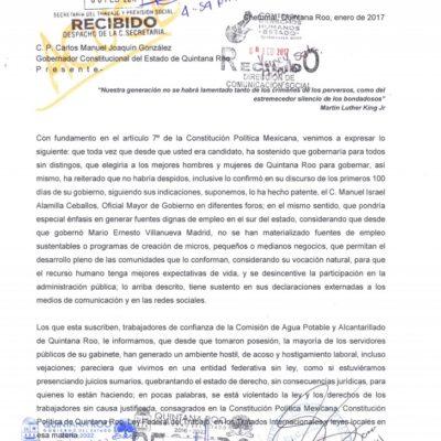 Reclaman trabajadores de confianza política de despidos en el Gobierno de QR