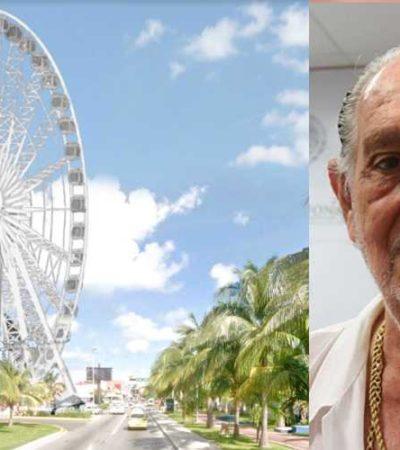 REPUDIAN HOTELEROS UBICACIÓN DE LA 'GRAN RUEDA': Advierten problemas en el corazón de la zona turística de Cancún; la empresa cumplió, dice comuna