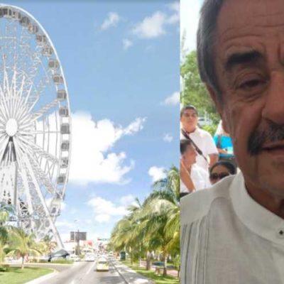 """""""TE PUEDO ASEGURAR QUE NO TIENEN UN SOLO PERMISO"""": Truena Córdova Lira contra comuna por avalar proyecto de la 'Gran Rueda' en la saturada Punta Cancún"""