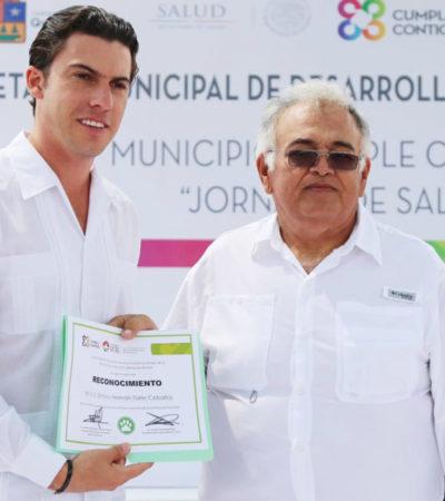 Anuncia Alcalde en la Región 239 construcción de domos domos deportivos y gimnasios al aire libre