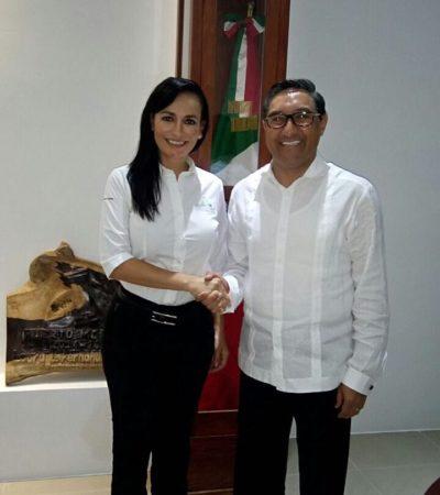 Se reúne Laura Fernández con titular de Sefiplan en Puerto Morelos