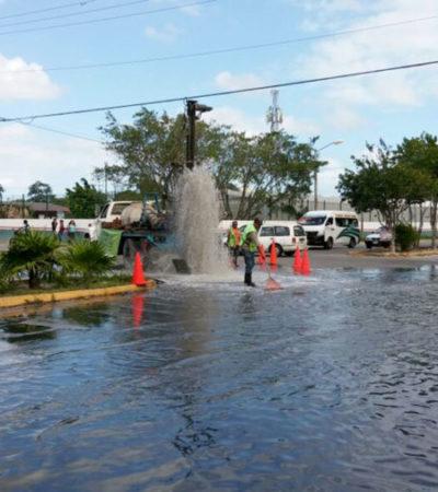 Suman 14 pozos de absorción construidos y 283 desazolvados en Cancún