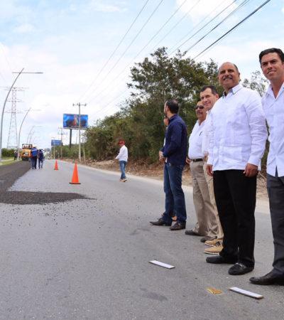 Con inversión de 6.5 mdp, inician rehabilitación de la Avenida Huayacán de Cancún