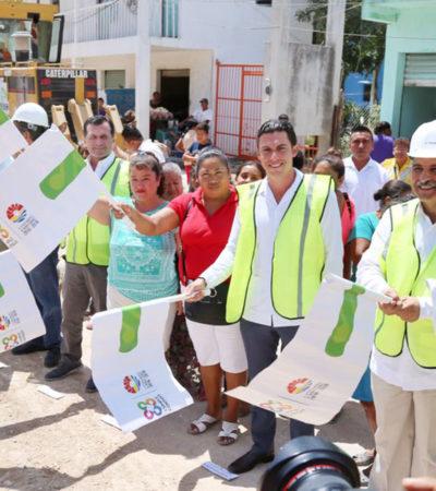 Da Alcalde banderazo a obras de rehabilitación al principal acceso de la colonia 'Tres Reyes'