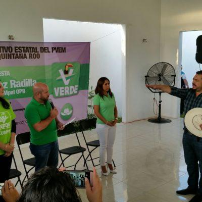 UN 'MANDADERO' DEL BORGISMO SE PONE 'VERDE': Rinde protesta Israel Hernández Radilla como nuevo líder del PVEM en OPB