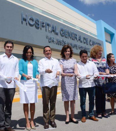 Después de 10 años, Carlos Joaquín inaugura Hospital General de Cancún