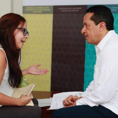 """""""NADIE NOS HABÍA HECHO CASO"""": Cara a cara, atiende Gobernador a ciudadanos en primera audiencia pública en Chetumal"""