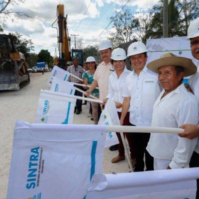 Da Gobernador banderazo de inicio a modernización de la carretera Chun Yah-Yodzonot Chico, en la Zona Maya