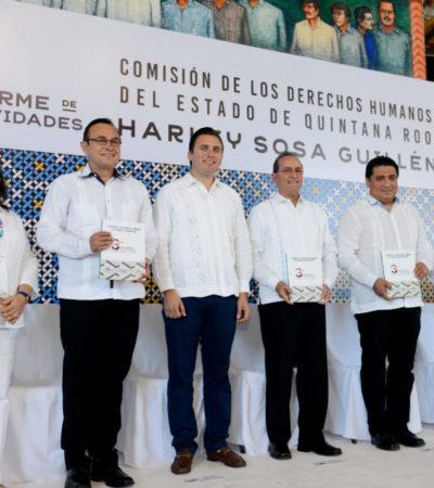 Recibe Congreso informe de la Comisión de Derechos Humanos de QR