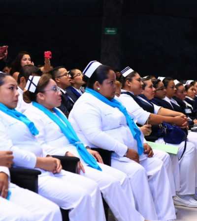 Dan reconocimientos de excelencia a enfermeras de Solidaridad