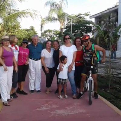 Celebran ciudadanos reconstrucción de ciclopista en la Zona Hotelera de Cancún