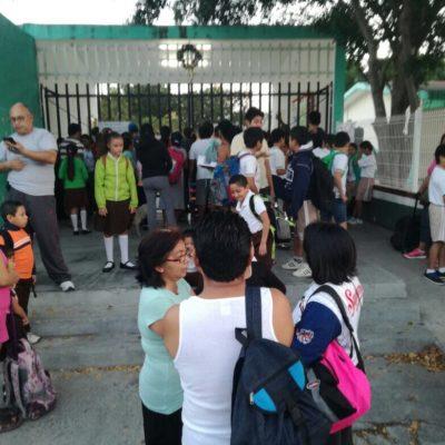 Se queda nuevamente la primaria 'Popol Vuh' de Cancún sin clases